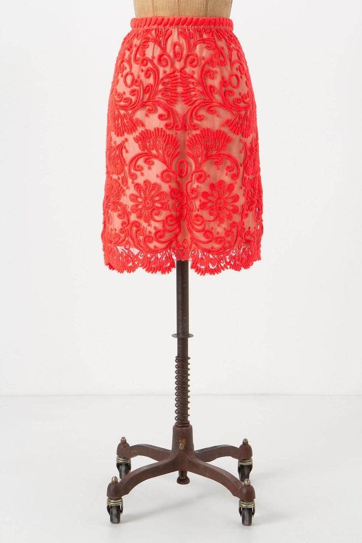 Sunblaze Lace Skirt: Fashion, Skirts, Style, Color, Anthropologie Sunblaze, Anthropologie Skirt, Lace Skirt, Sunblaze Lace, Skirt Anthropologie