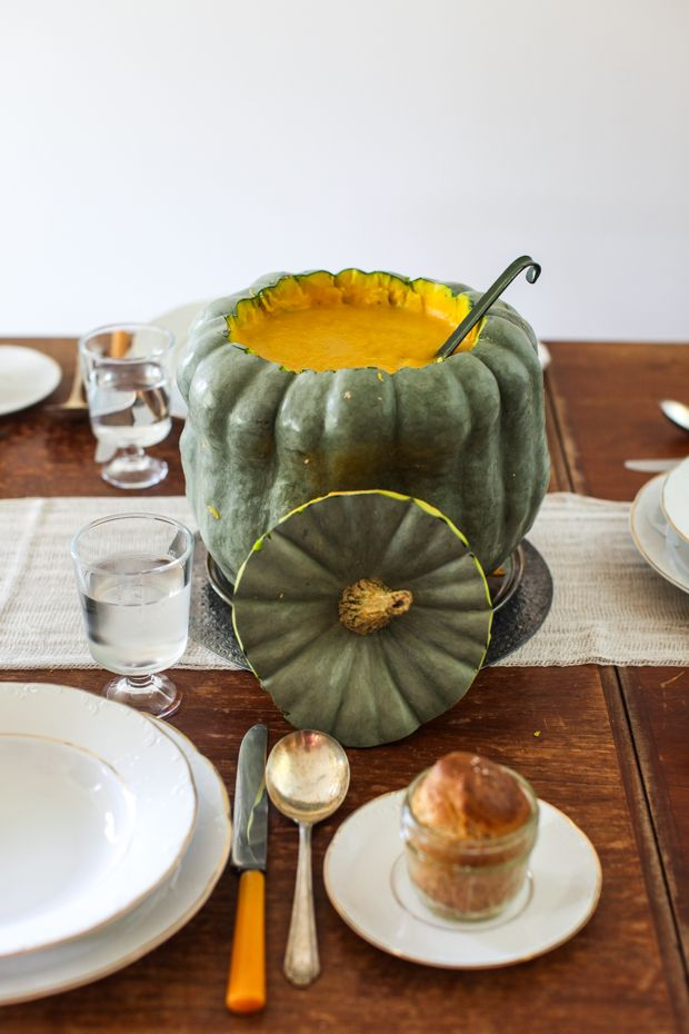 How to make a soup tureen from a squash