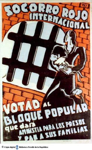 Votad al bloque popular que dará amnistía para los presos y pan a sus familias…