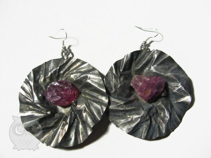sOWLshine handmade jewelry - earrings with amethyst