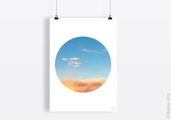 Cloud art print, Geometric print, Printable poster, Printable poster, Wall art, Instant download, Home decor art, Minimal art, Circle art,