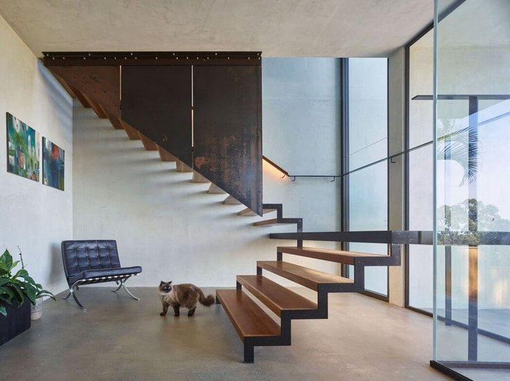 100 escaliers design et modernes invitez le style chez vous design et interieur. Black Bedroom Furniture Sets. Home Design Ideas