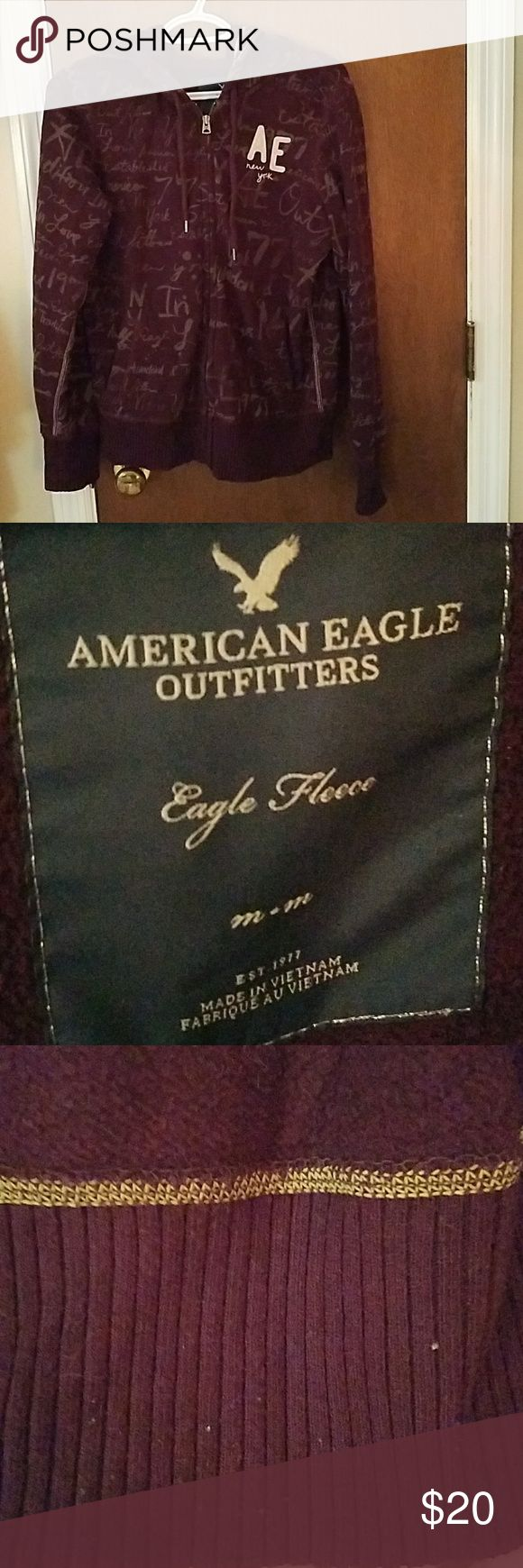 American Eagle Jacket Excellent condition!! Fleece in the inside! No holes or stains Jackets & Coats