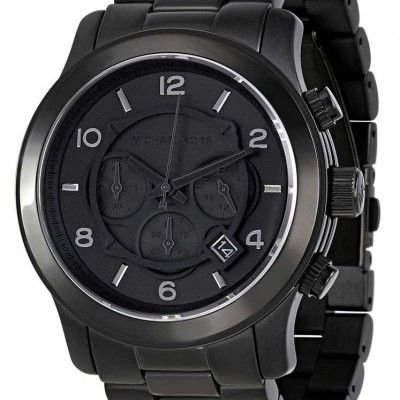 Michael Kors Blacked Out Runway Chronograph MK8157 Mens Watch http://bit.ly/1Rw2xtc