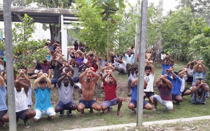 Workers have tipped out water supplies and damaged wells at the now decommissioned detention centre on Manus Island, refugees and asylum seekers claim.