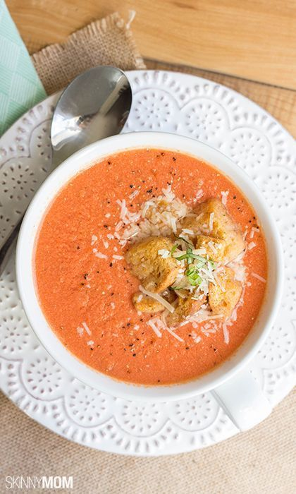 Try whipping up this deliciously skinny quick Tomato Bisque.
