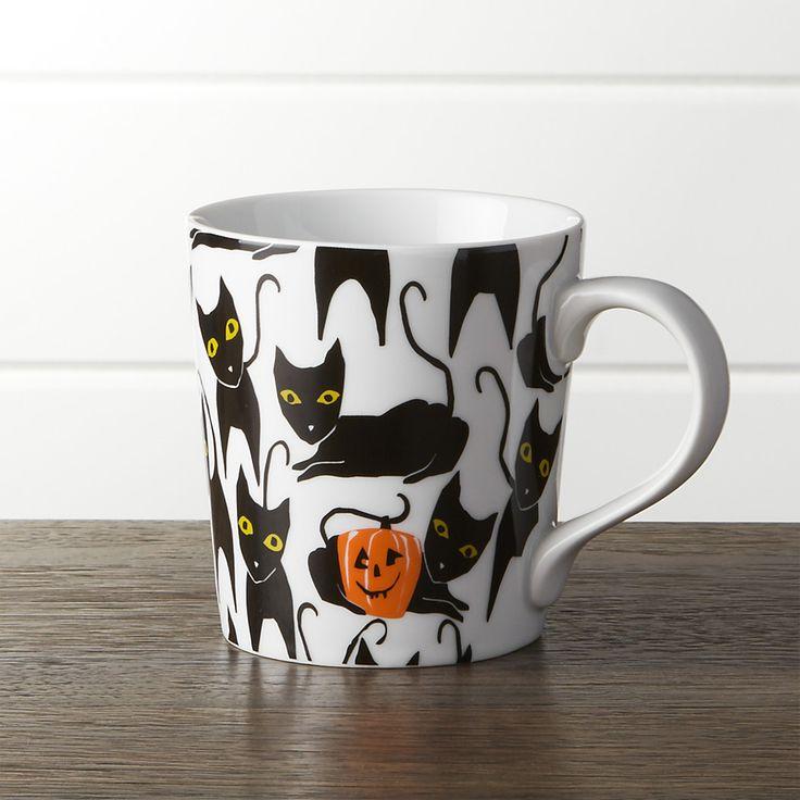 HalloweenCatPumpkinMugSHF16