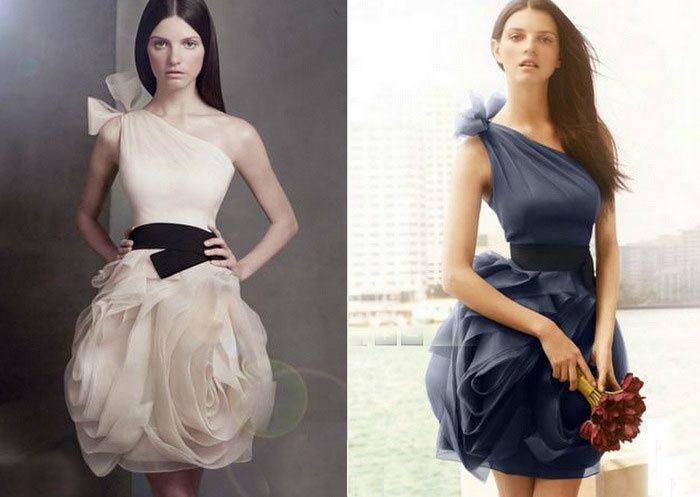vera wang bridesmaid dress - I love this dress in blue!