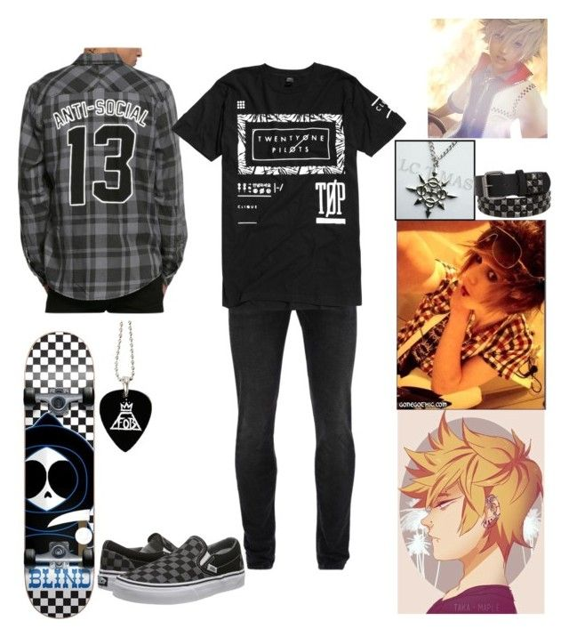 """""""Roxas"""" by billdipbipper2423 on Polyvore featuring KENNY, Alexander McQueen, Vans, men's fashion and menswear"""