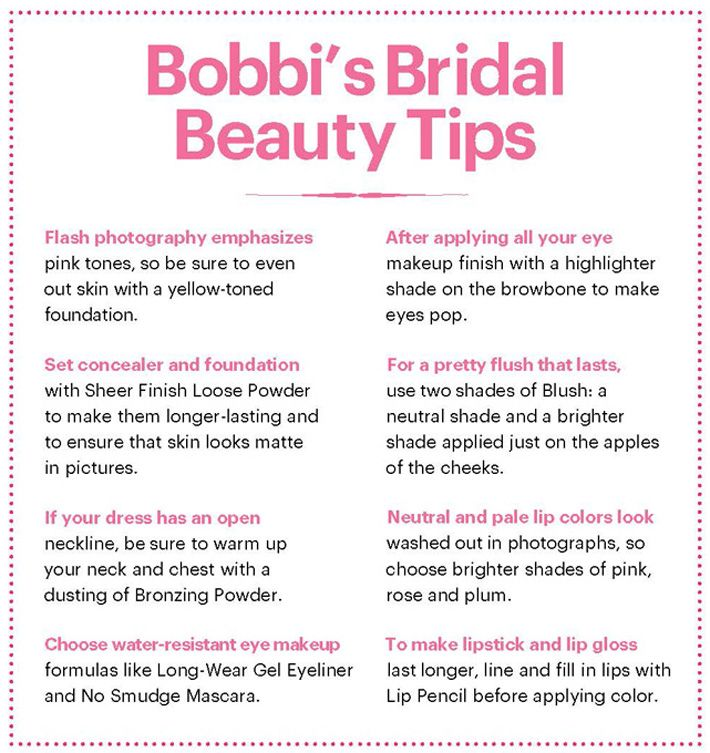 Bobbi Brown's bridal tips #spadelic #bridal makeup #bobbi brown