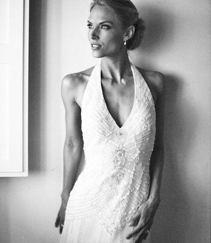 Luxury wedding hair and makeup for a model Sierra Anderson Lorenzini by Janita Helova www.janitahelova.com
