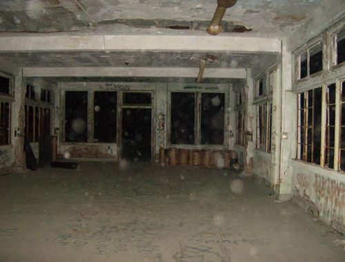 Waverly Hills Sanatorium...interesting is if you believe, the photo showing many orbs !