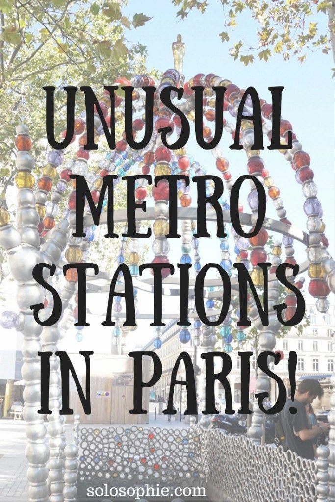 unusual metro stations in paris