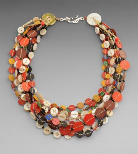 Chloe French necklace w/ antique buttons by sweet.dreams
