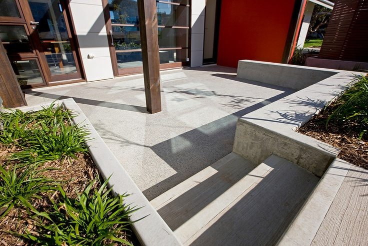 37 best images about concrete on pinterest for Polished concrete exterior