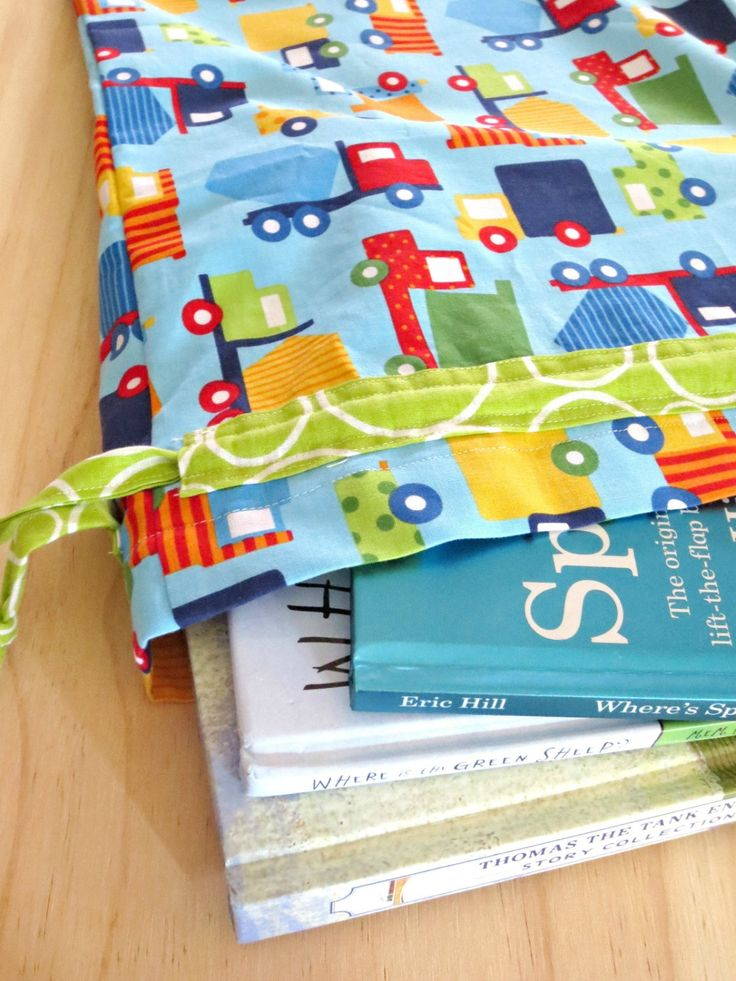 Trucks Drawstring Library Bag Book Bag by BugseyBee on Etsy