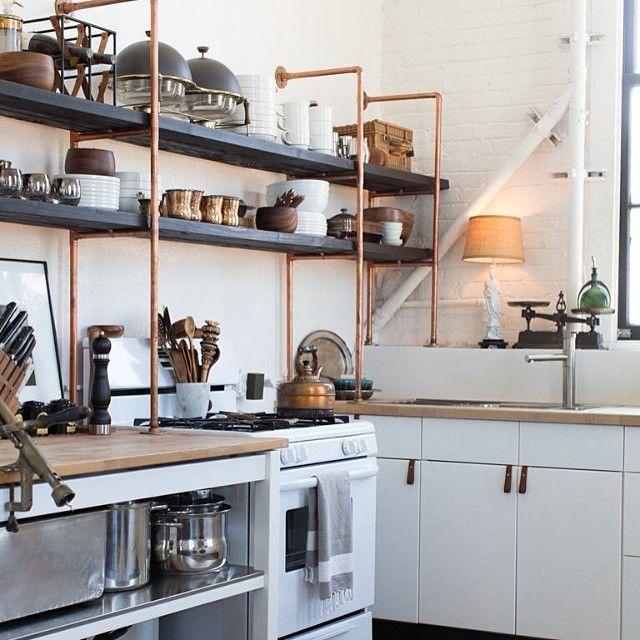 1000 id es sur le th me rayonnages industriels sur pinterest industriel tuyauterie - Keuken originele keuken ...