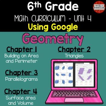In this NO PREP Google Drive product you get an entire unit that covers: finding area and perimeter of rectangles, polygons, triangles, and quadrilaterals. Also included in this product is: drawing polygons on coordinate grids, constructing different triangles, finding surface area of nets, finding surface area of prisms, and finding volume of prisms. All you have to do is share the file with your students and they can get started. Text boxes are included