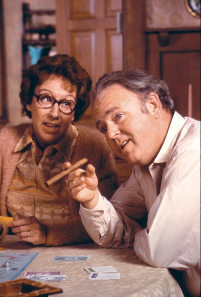 Carroll O'Connor and Jean Stapleton in All in the Family