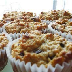 Muffins à l'avoine et aux pépites de chocolat @ qc.allrecipes.ca