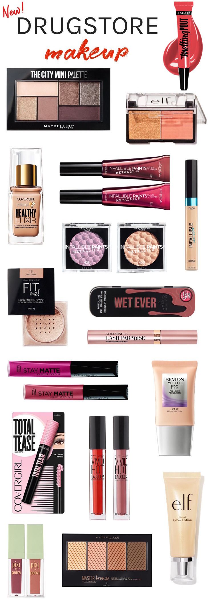 New drugstore makeup summer 2017 | Want to know what's new in the drugstore beauty aisles? Check out the latest launches that you'll want to get your hands on...and don't be surprised if you want them all!