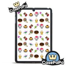 Tasty Emoji Sweetmeats Case For iPad Air 2 1 Mini 3 2 1 For iPad 4 3 2 Ice Cream Pudding Chocolate Stand Smart Cover