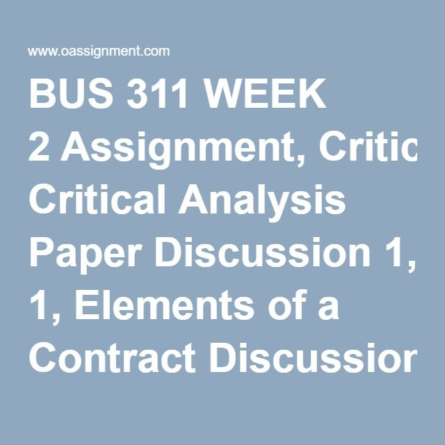 Die besten 17 Bilder zu Business Law 1 Assignment, DQ, Quiz, Week - critical analysis