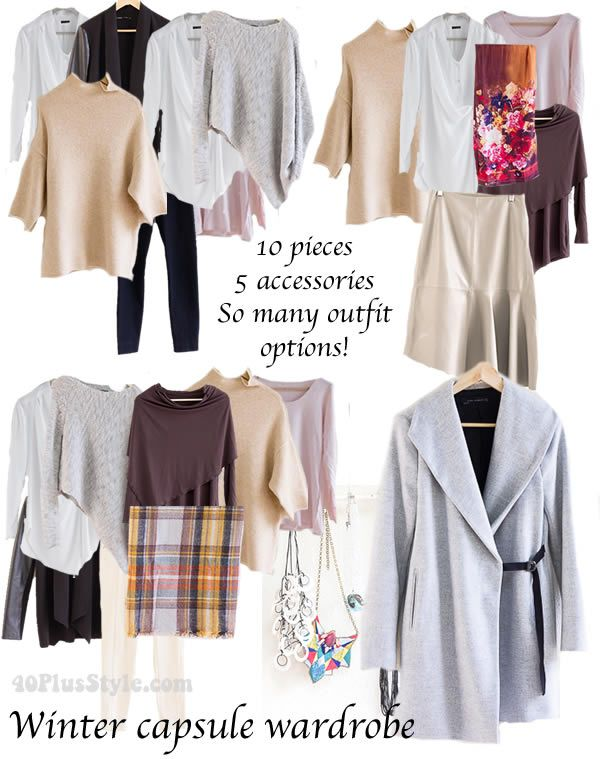 How to create lots of outfits with a capsule wardrobe for winter   40plusstyle.com