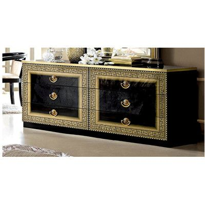 6 Drawer Double Dresser Color: Gold - http://delanico.com/dressers/6-drawer-double-dresser-color-gold-643123764/