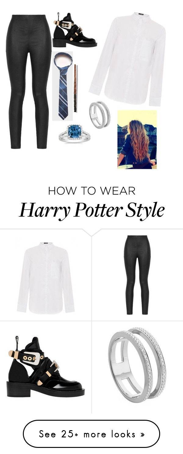 """Harry Potter #6"" by courtney764 on Polyvore featuring Armani Jeans, Balenciaga, Fortuna and Monica Vinader"
