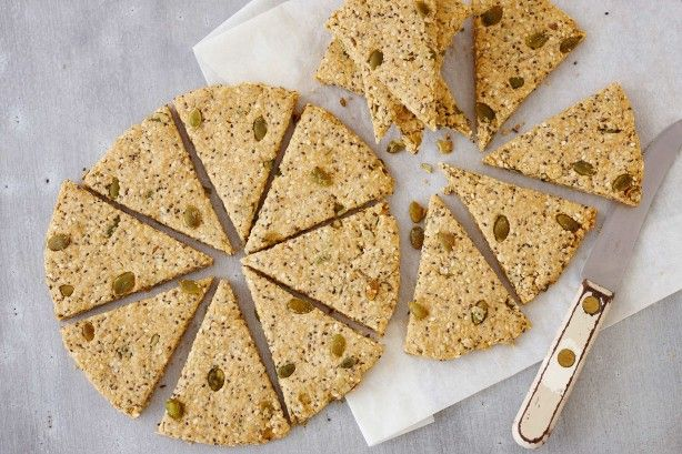 These biscuits make the perfect healthy snack to help you through the day or they can be served as part of a cheese platter.