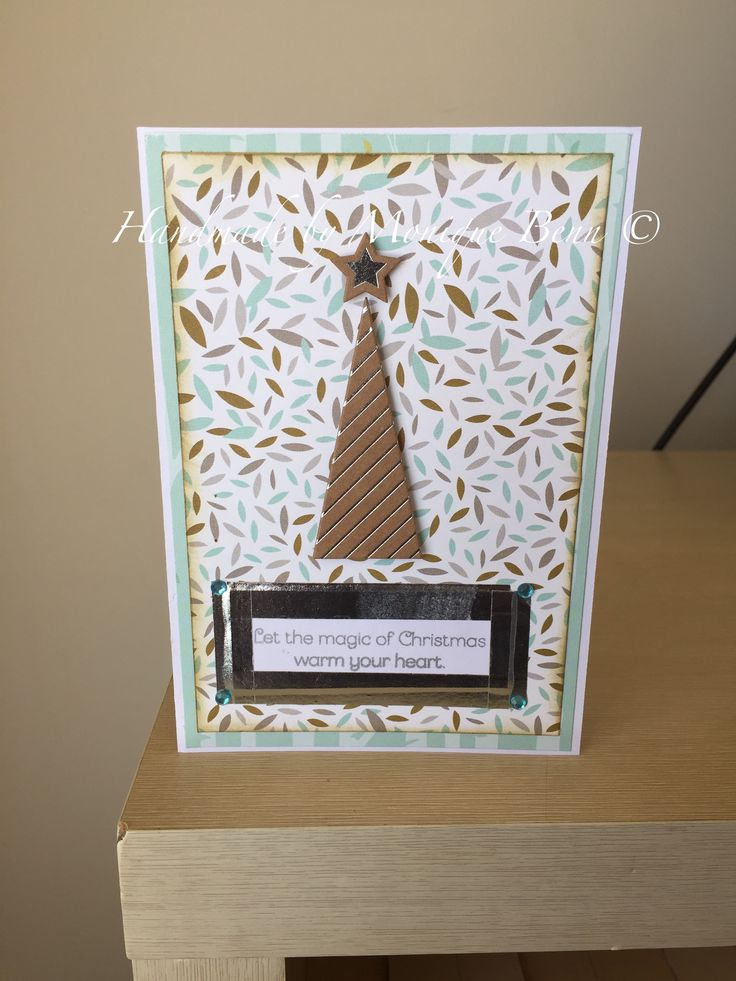 Christmas card made using Oh Deer! paper range from CTMH