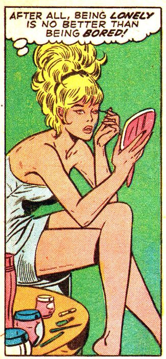 "Comic Girls Say.. ""After all..being lonely is no better then being bored! "" #Vintage #Comic #PopArt"