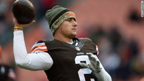 Johnny Manziel's time in Cleveland is over after the Browns cut him Friday.
