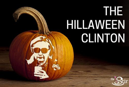 Everything you'll need for this Hillary Clinton pumpkin! LOL.  http://thestir.cafemom.com/politics_views/191171/hold_a_presidential_pumpkincarving_party
