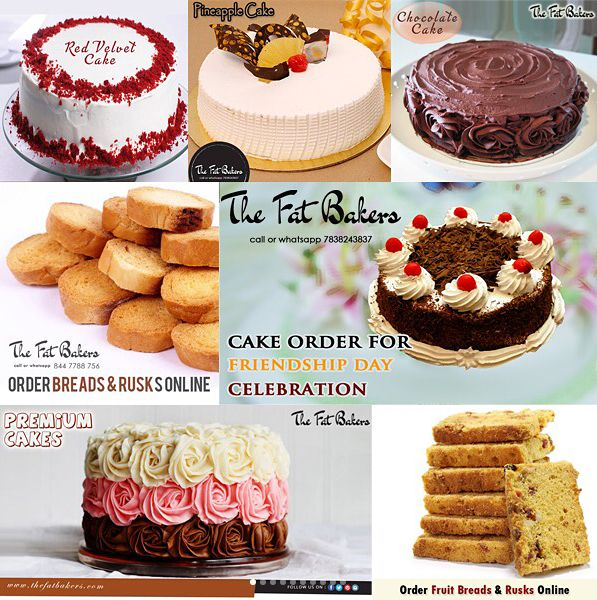 Buy Fressshhh & Yummmyy Bakery Products From The Fat Bakers at very reasonable price To order Call or Whatsapp: +91-7838243837