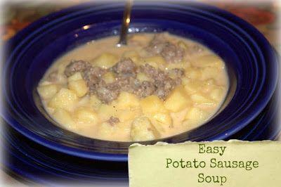 Easy Potato Sausage soup... one pot meal