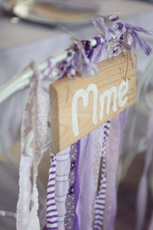 Idées déco chaise mariée, mariage en violet
