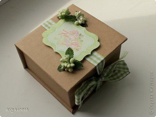 Scrapbooking Anwendung: Gift Box + Erläuterung Papier Geburtstag. Foto 1