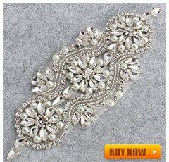30 шт. серебряные база ясно горный хрусталь аппликация свадебное платье Пояс кристалл Аппликация Шить на Платье Украшения купить на AliExpress