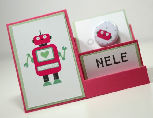 Robot - Party - Roboter - Geburtstag - Birthday - Place card - Tischkarte