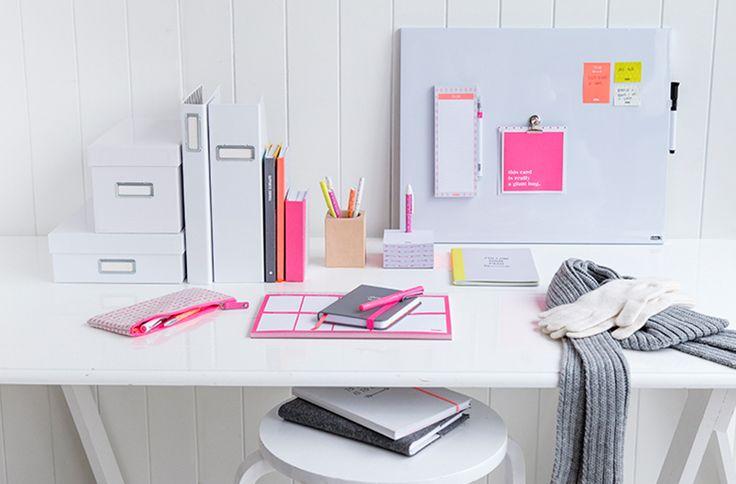 Create a stylish and inspiring desk setup to boost productivity and organisation. #kikkiK