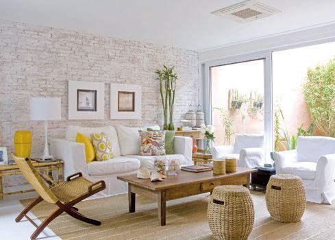 Inspiração Do Dia: Parede De Tijolinhos A Vista Na Decoração. Sala CleanHome  DecorSmall Living ... Part 74