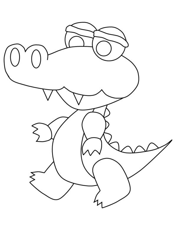 24 best gator images on Pinterest Alligators, Crocodile and Crocodiles - new alligator coloring pages to print