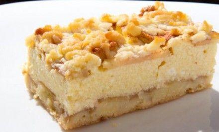 Strúhaný koláč s tvarohom a jablkami   Báječné recepty