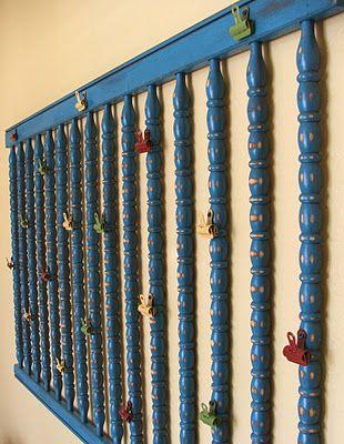 Repurposing Crib Rails | DIY - Crib Rail into a Children's Wall Display | Facelift Furniture