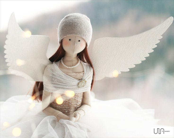 anielica tilda rękodzieło szycie lalka dekoracja ULAdesign