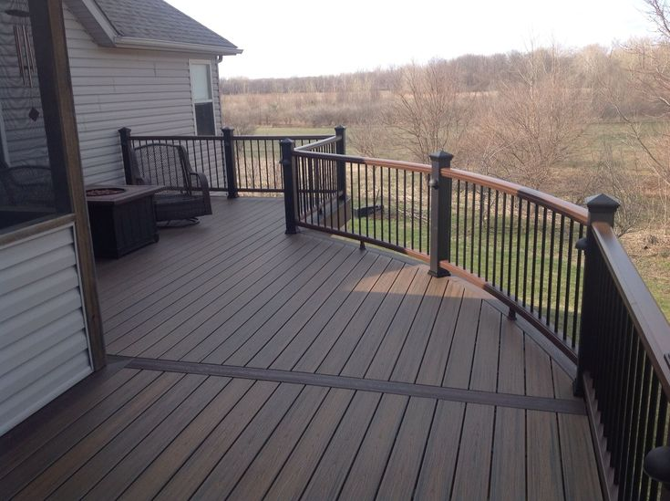 Trex Decking Colors >> trex spiced rum | custom curve trex spiced rum balcony lafayette in trex spiced | Building a ...