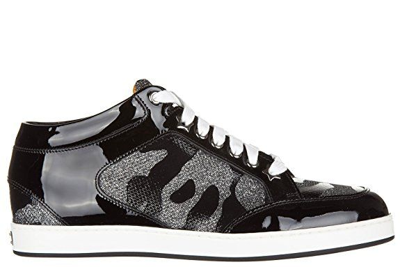 Jimmy #Choo Damenschuhe Turnschuhe #Damen Leder Schuhe Sneakers Schwarz EU 40 MIAMI CAG