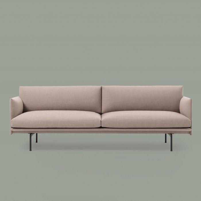 Outline 3 Seaters Sofa Pink 3 Seater Sofa Sofa Design Sofa